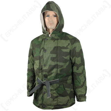 img-WW2 German Splinter Camo Padded Parka - Winter Jacket Coat Reversible Repro New