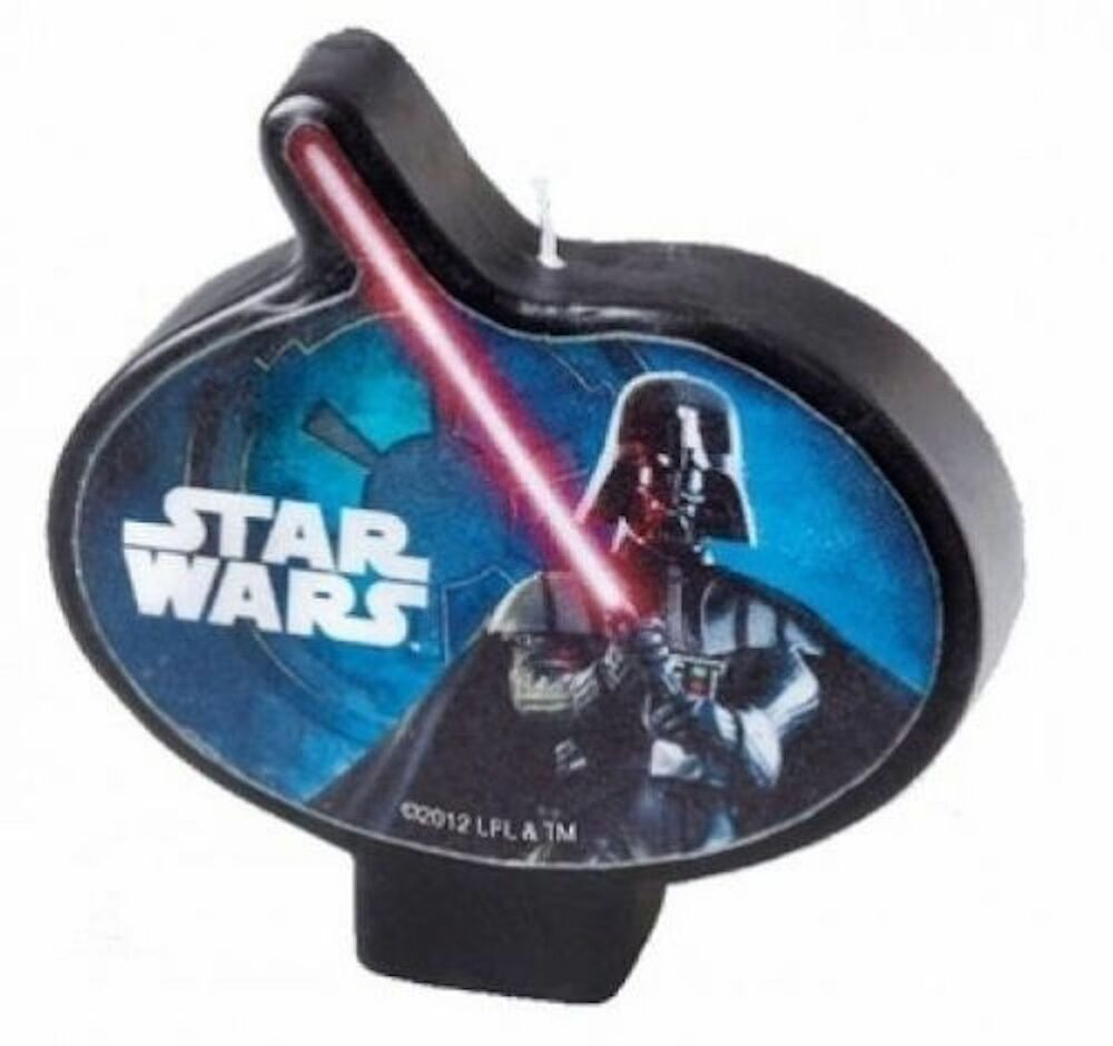 Star Wars Darth Vader Candle 1ct Cake Cupcake Decoration Topper Party ...