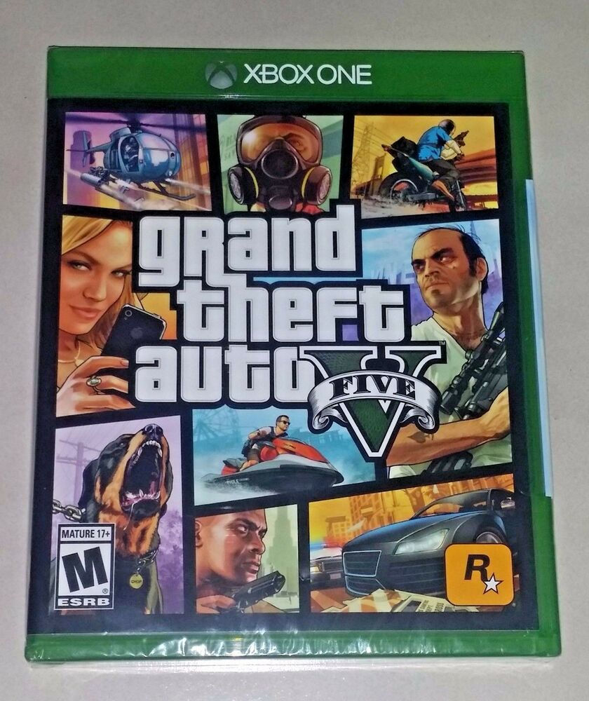 grand theft auto v 5 for xbox one brand new sealed. Black Bedroom Furniture Sets. Home Design Ideas