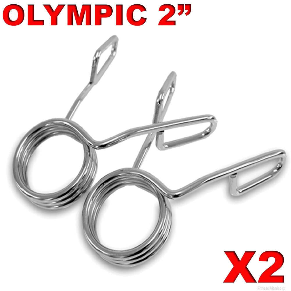Olympic quot spring collar weight gym bars clips