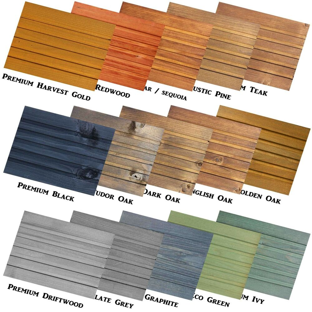 Premium Decking Exterior Wood Stain Dye Shed Fence Patio