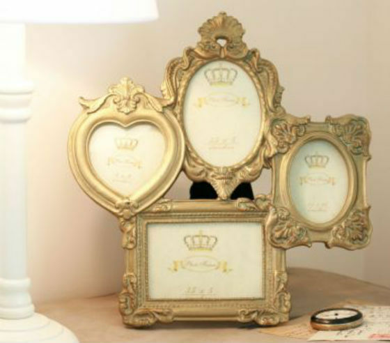 shabby chic multi photo picture frame vintage french antique style collage gold ebay. Black Bedroom Furniture Sets. Home Design Ideas