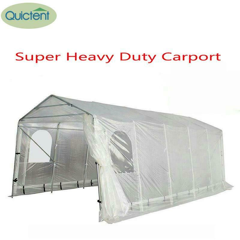 Heavy Duty Tents And Shelters : Quictent heavy duty portable garage carport canopy