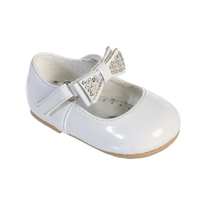 Cute shiny bow infant toddlers baby girls dress shoes for Girls dress shoes for wedding