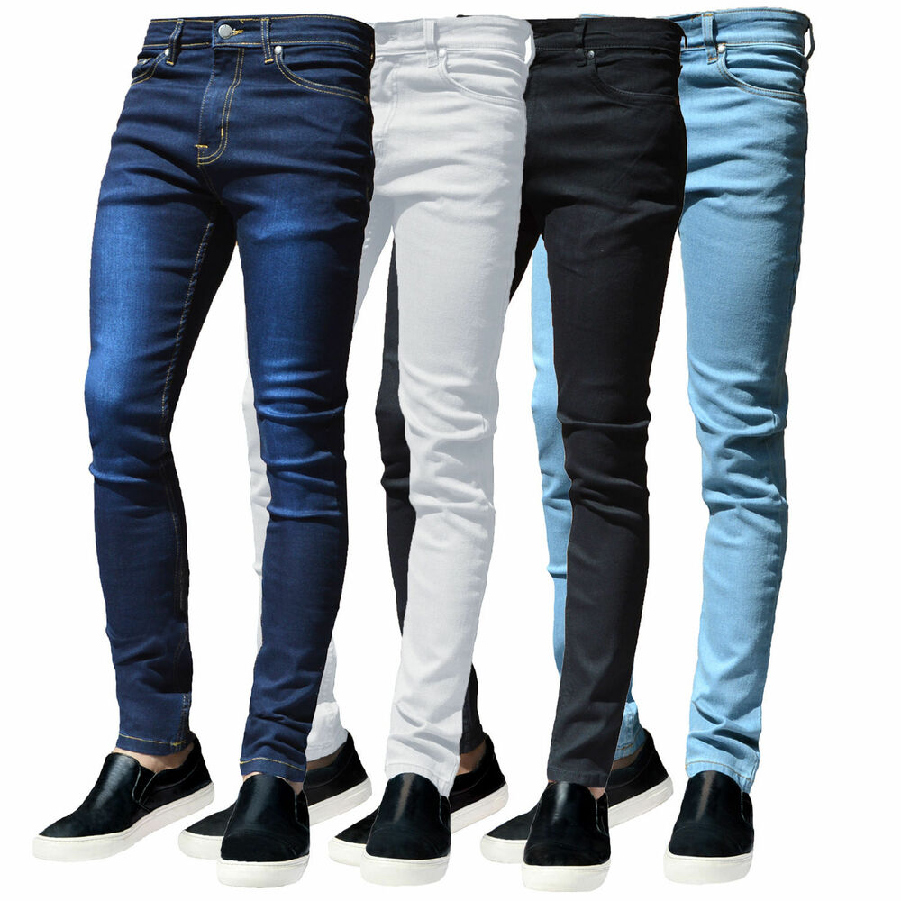 mens g72 black denim super stretch skinny white slim fit. Black Bedroom Furniture Sets. Home Design Ideas