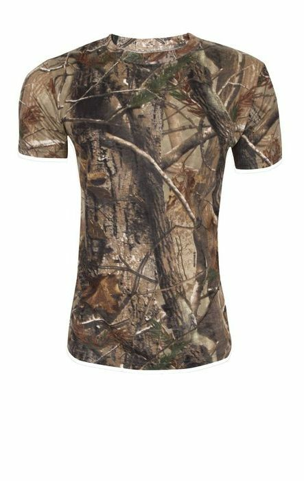 Tree camo stealth t shirt mens cotton s xxl hunting for Camo fishing shirt