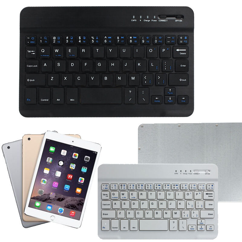 Android Bluetooth Keyboard Example: New Mini Ultra Aluminum Wireless Bluetooth Keyboard For IOS Android Windows PC