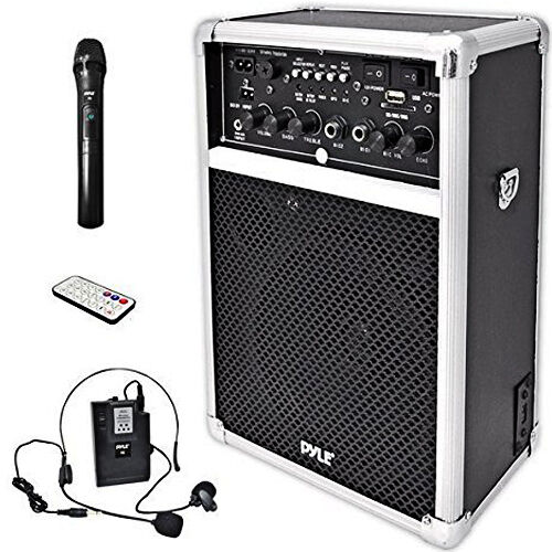 wireless pa system sound speaker music audio equipment usb sd mp3 vhf microphone 695975496639 ebay. Black Bedroom Furniture Sets. Home Design Ideas
