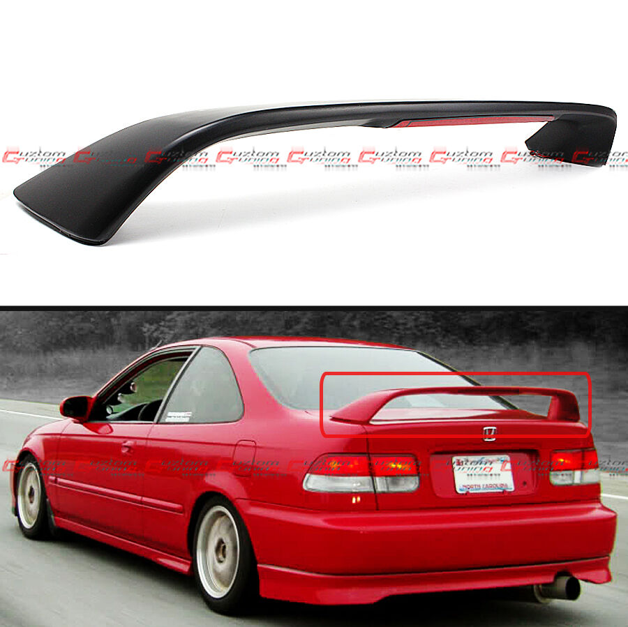 96 00 Honda Civic 2dr Coupe Em Ej Si Style Trunk Spoiler Wing W Led Brake Light Ebay