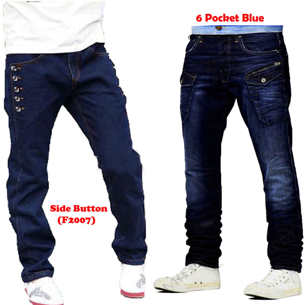 Mens Stylish Jeans Fashion Slim Fit Casual Denim Jeans Pantstrousers Ebay