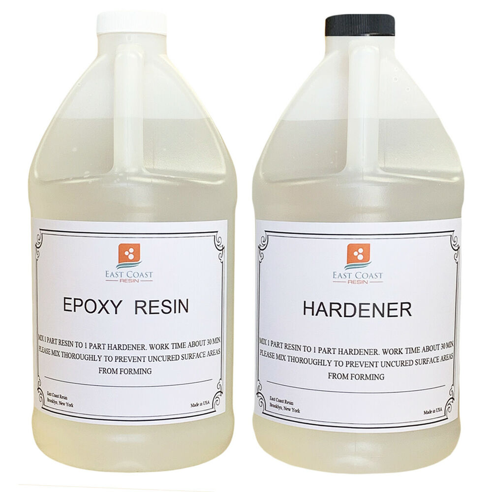 epoxy resin 1 gal kit crystal clear for super gloss coating and table tops ebay. Black Bedroom Furniture Sets. Home Design Ideas