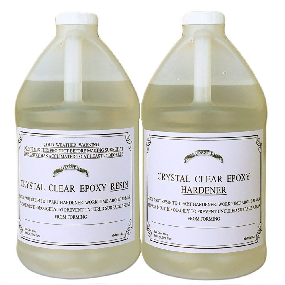 Epoxy Resin 2 Gal Kit Crystal Clear For Super Gloss
