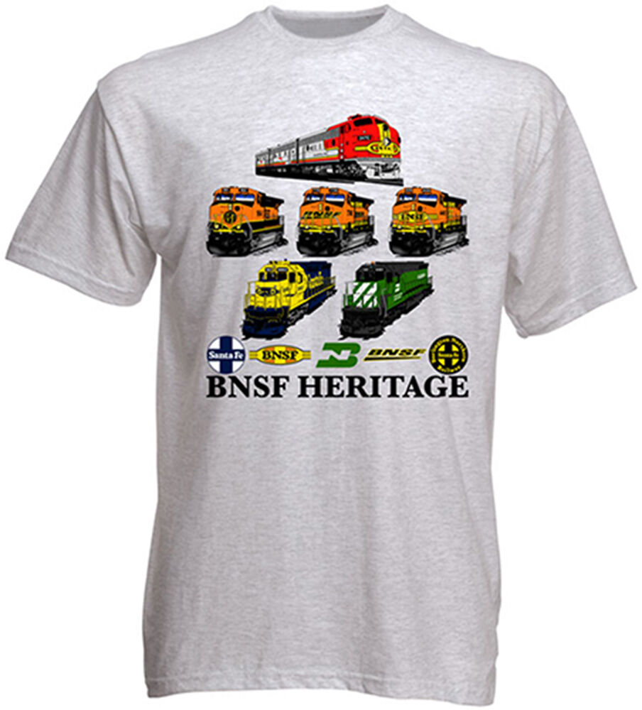BNSF Heritage Authentic Railroad T-Shirt Tee Shirt [14] | eBay