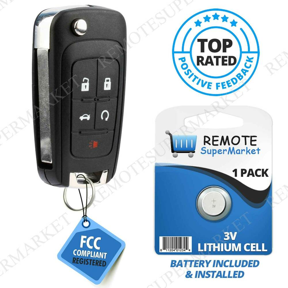 replacement for buick 2013 2016 encore 2010 2016 lacrosse remote car key fob 5b ebay. Black Bedroom Furniture Sets. Home Design Ideas