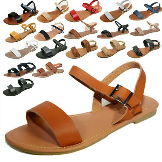 Awesome Womens Summer Gladiator Roman Thong TStrap Flats Sandals Shoes Flip