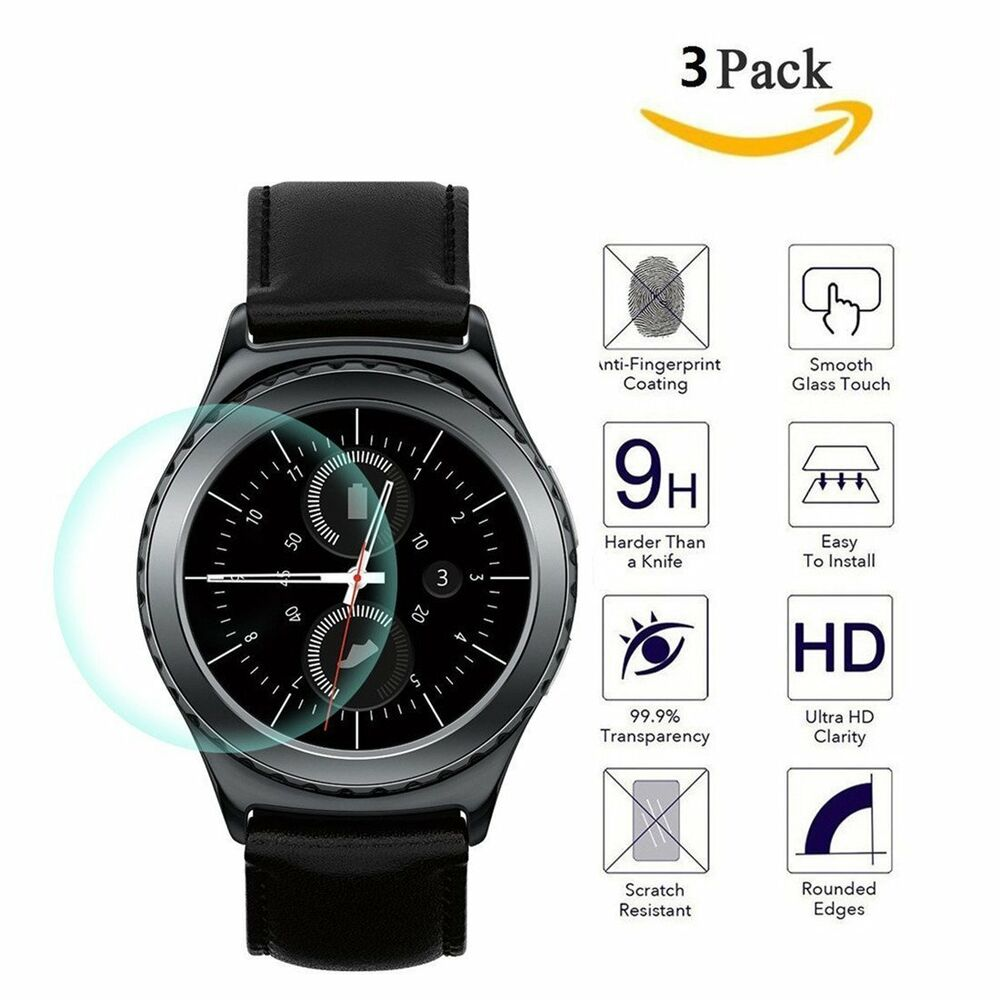 3 Pack For Samsung Galaxy Gear S2 Watch Premium Tempered ...