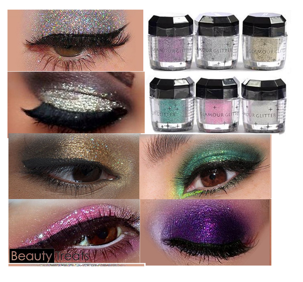 6 Eye Candy Eye Shadow Makeup Pro Glitter Eyeshadow Beauty Treats