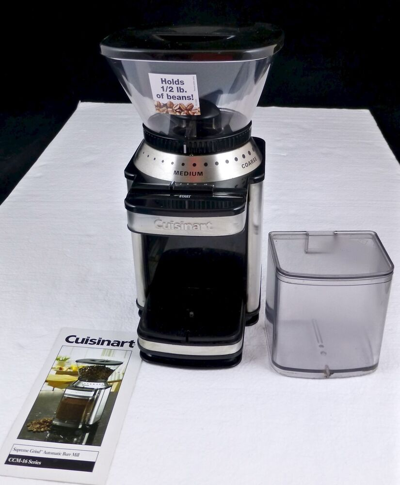 Cuisinart Supreme Coffee Grind Automatic Burr Mill Ccm 16
