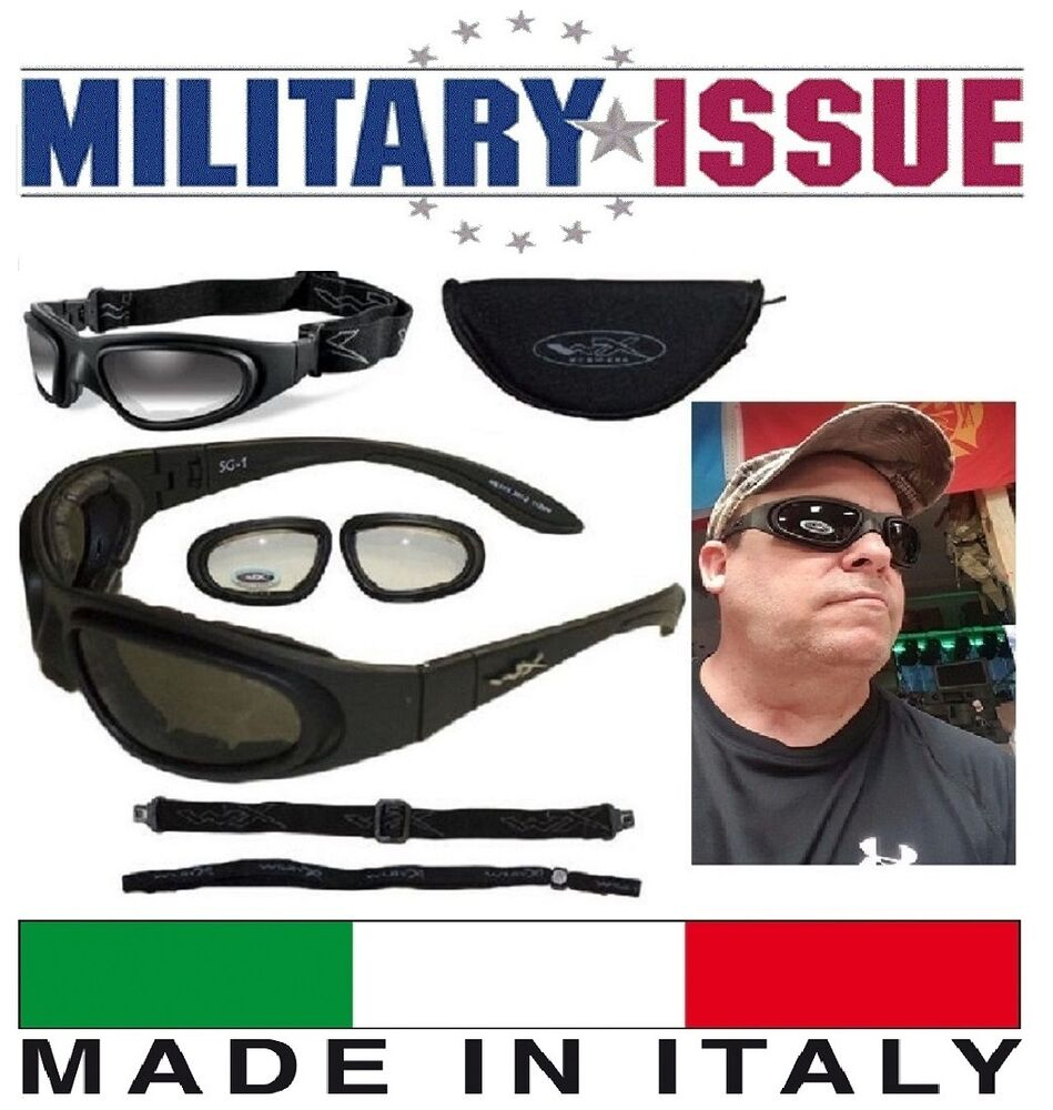 68a5e1e697d Details about NEW Wiley X SG-1 Z87-2 Tactical Sunglasses   Goggles Smoke  And Clear Matte Black