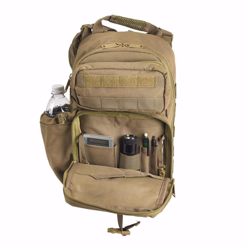 5d557ed10e10 Details about NEW US PeaceKeeper Stryker Sling Pack Backpack Concealed  Carry COYOTE TAN P40320