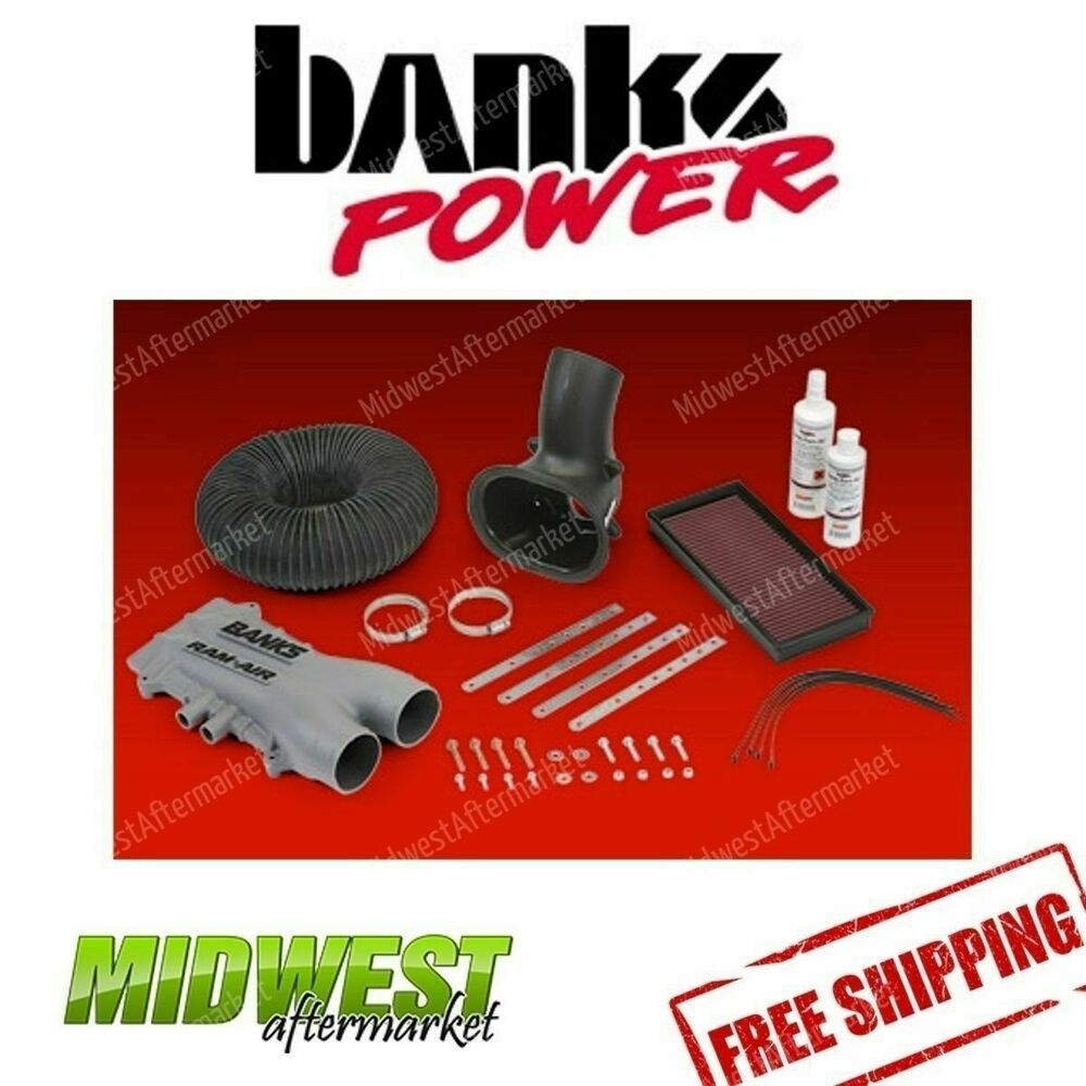banks power ram air intake system 1988 1998 ford 7 5l 460 motorhome class a efi ebay. Black Bedroom Furniture Sets. Home Design Ideas