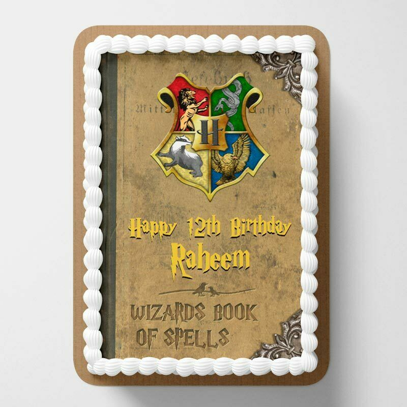 edible cake decorations harry potter personalised edible icing cake wrapper 3819