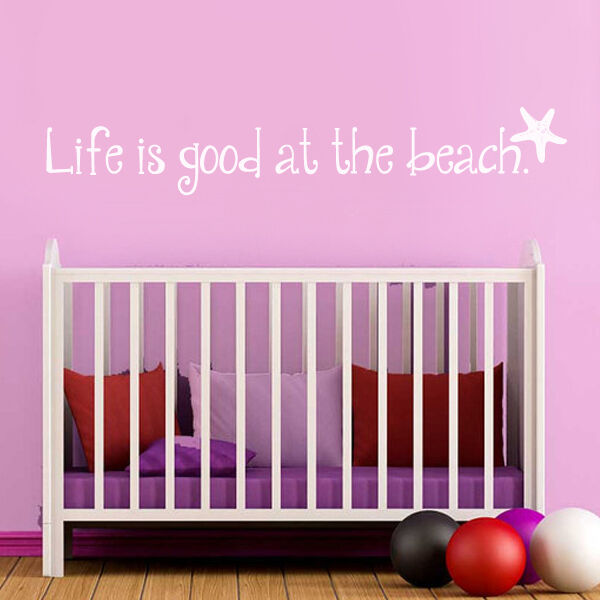Inspiration wall sticker ocean life is good at the beach for Life is good home decor