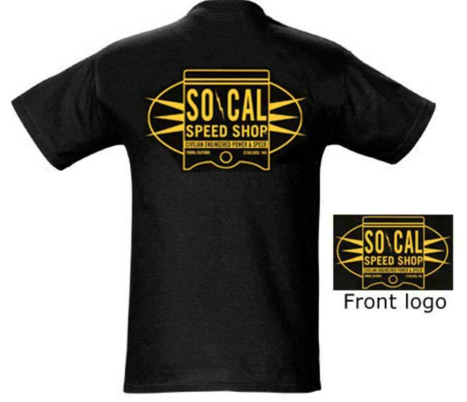 So Cal Clothing >> SO-CAL Speed Shop Oil Can Piston Short Sleeve T-Shirt | eBay