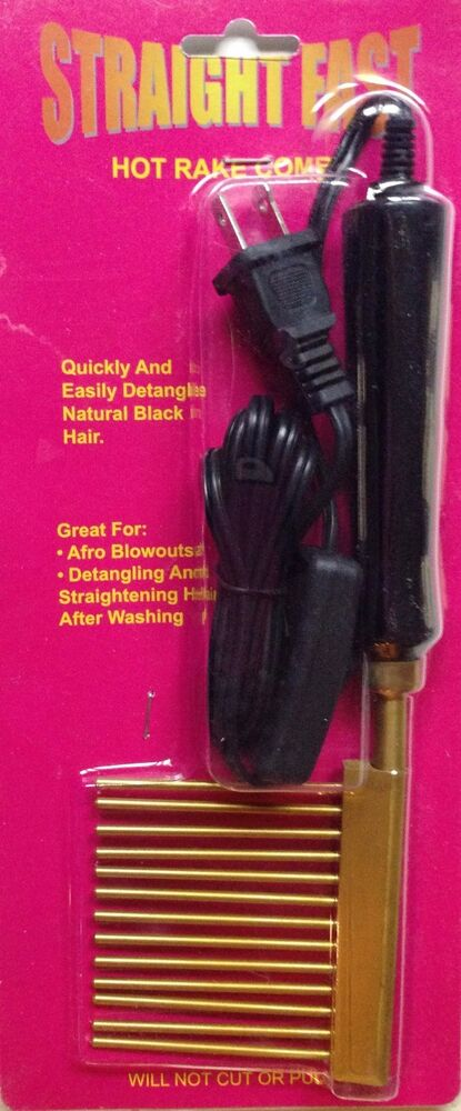 Electric Hair Pressing Straightening Hot Rake Comb By