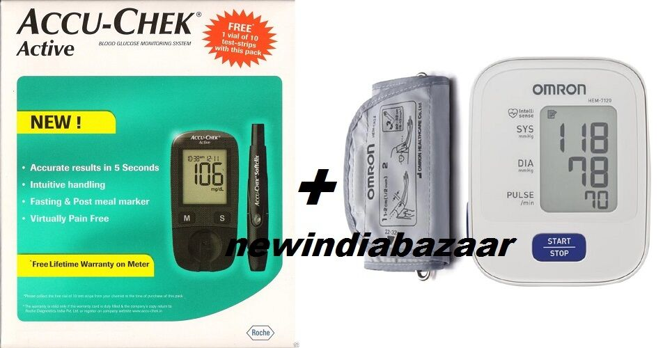 Accu Chek Active Blood Glucose Monitoring Omron Blood