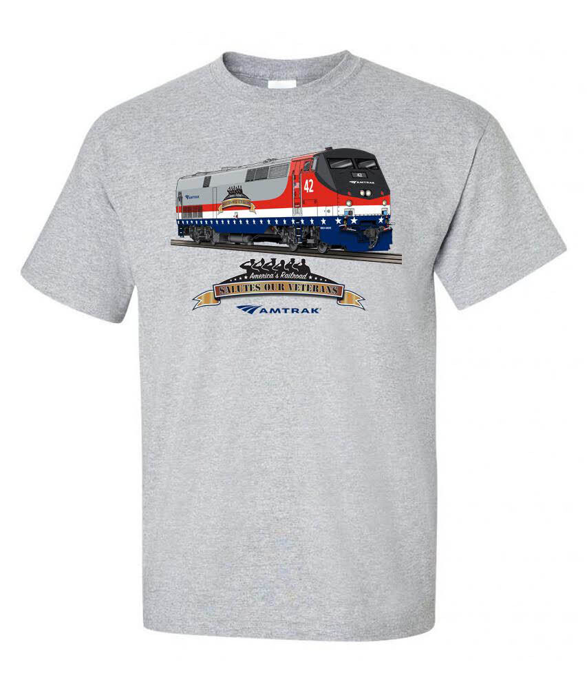 Amtrak Veterans Tribute Authentic Railroad T Shirt 121