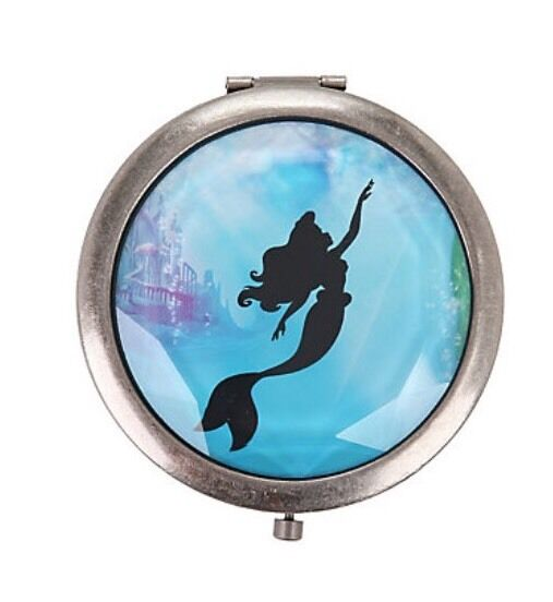 Disney Ariel The Little Mermaid Silhouette Gem Cut Compact Mirror New With Tags!