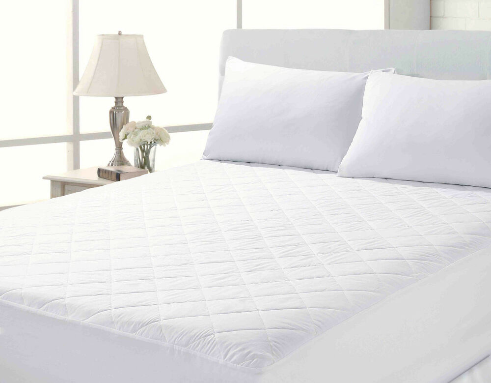 """King Size Bed Mattress Protector Quilted 10"""" Deep Fully ..."""
