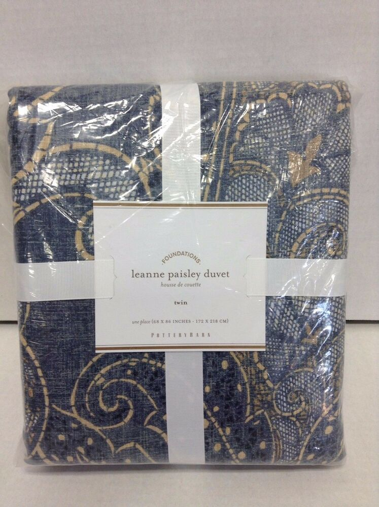 Pottery Barn Leanne Paisley Bed Duvet Cover Floral Twin