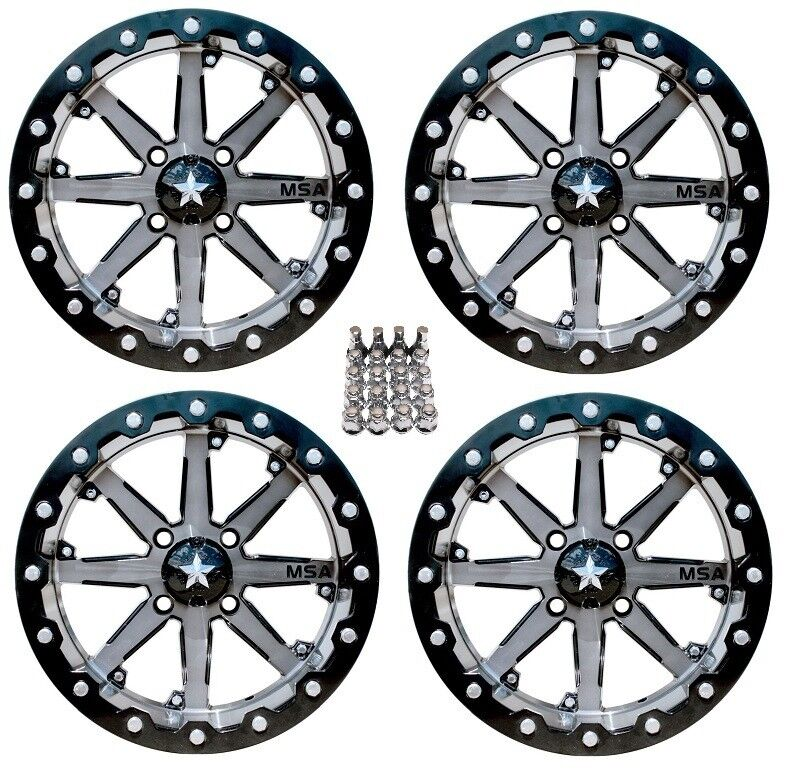 Atv Rims Wheel Covers : Msa m lok atv wheels rims gunmetal can am