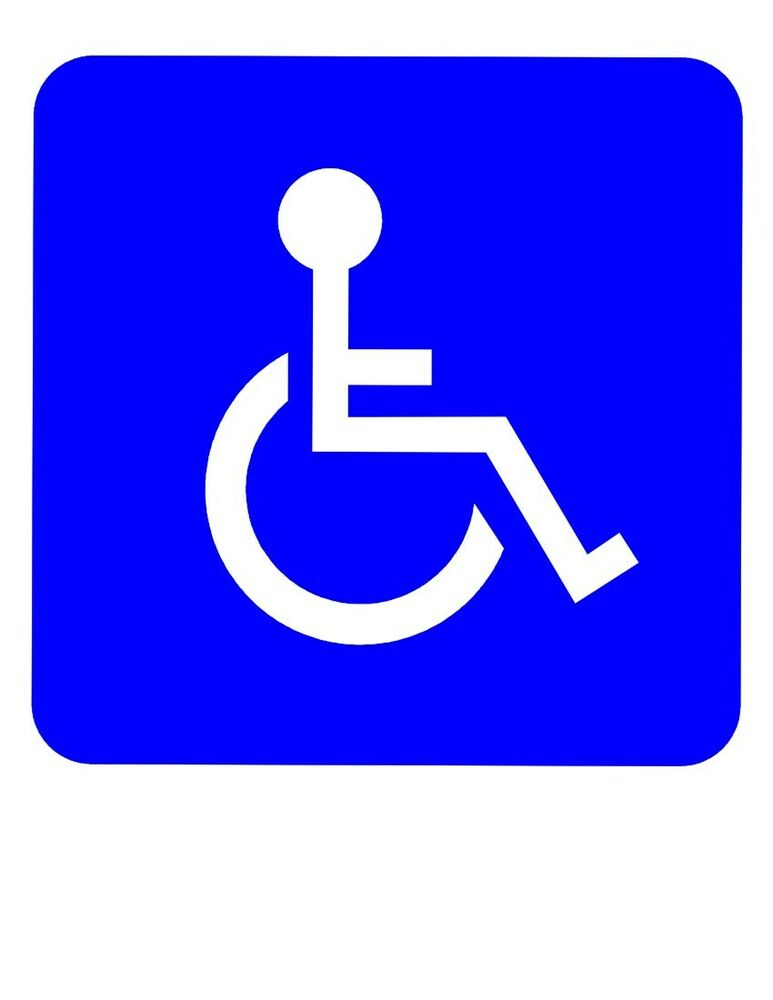 Handicap sticker die cut vinyl decal wheelchair accessible for How to find handicap accessible housing