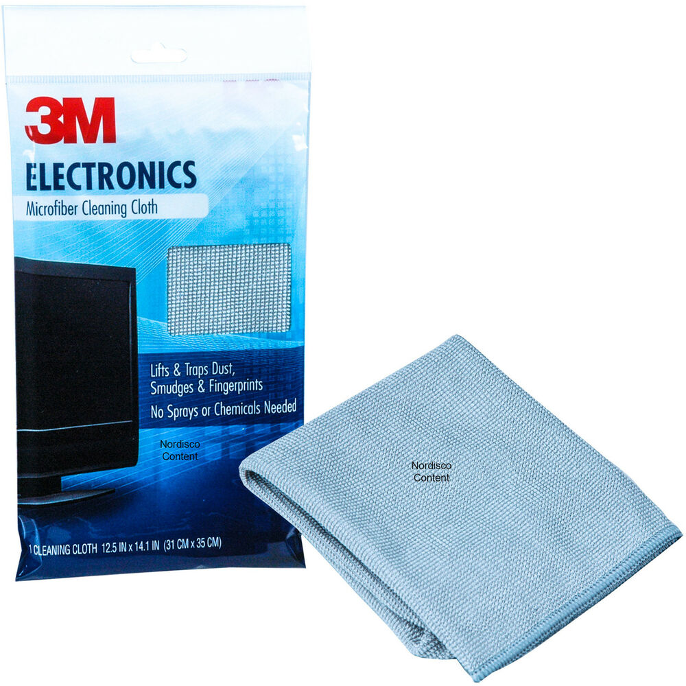 3m Microfiber Lens Cleaning Cloth Pack Of 10: 3M 9027 Electronics Microfiber Cleaning Cloth