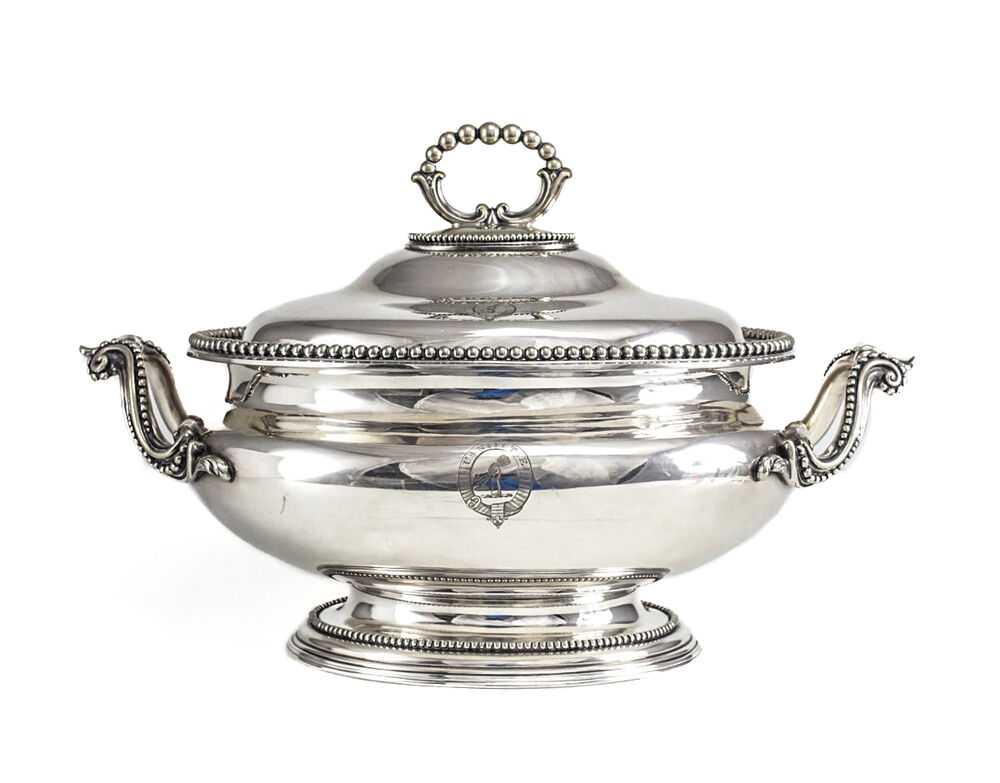 Elkington Amp Co Silverplate Footed Tureen With Hand