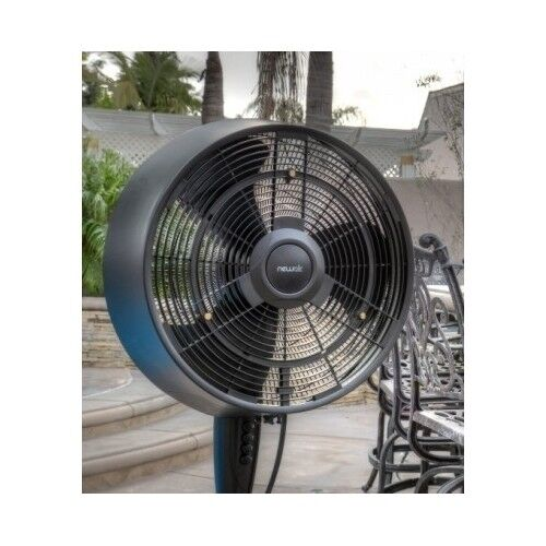 Outdoor Stand Up Fans : Misting fan outdoor cooling oscillating pedestal blower