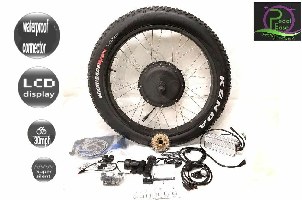 48v 1500w 36v 250w electric fat bike rear wheel conversion for Fat bike front hub motor
