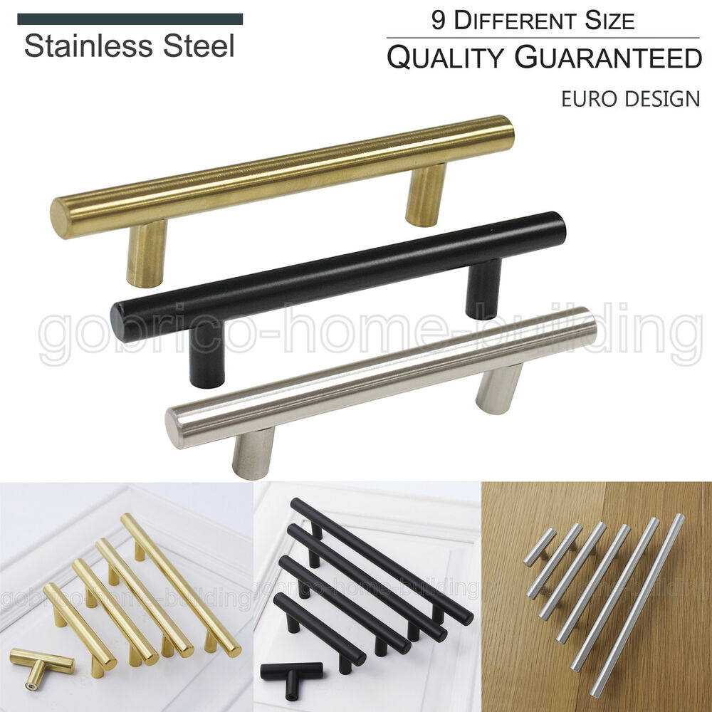Stainless Steel Kitchen Cabinet Knobs Uk: ∅12mm Stainless Steel T Bar Kitchen Cabinet Door Pull