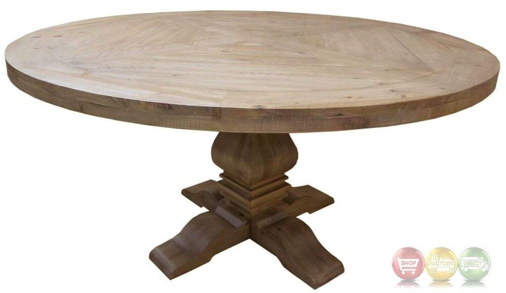 Florence Solid Mahogany Round Dining Table With Natural Finish EBay