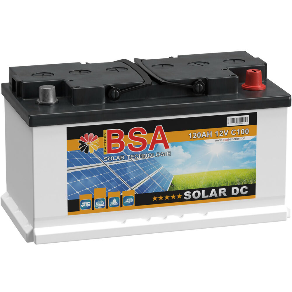 bsa solarbatterie 12v 120ah wohnmobil versorgungsbatterie. Black Bedroom Furniture Sets. Home Design Ideas
