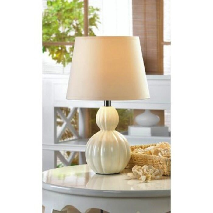 Lovely Mini Lamp White Ivory Ceramic Base Table Lamp 849179022020 Ebay