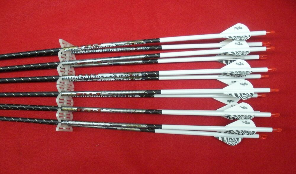 easton arrows fmj metal jacket custom 400 carbon 340 vanes fletched blazer axis pathfinder wraps dz st dozen