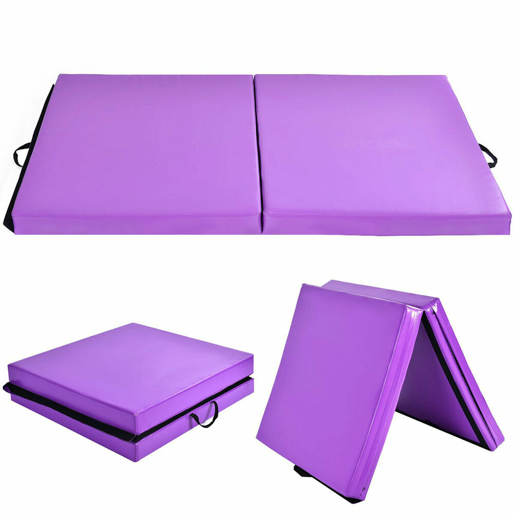 "6'x38""X4'' Gymnastics Mat Thick Two Folding Panel Fitness"