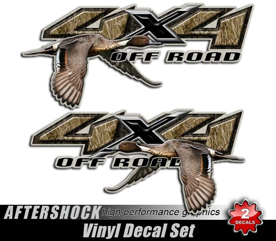 Duck hunting camo sticker 4x4 truck northern pintail decal for Duck hunting mural