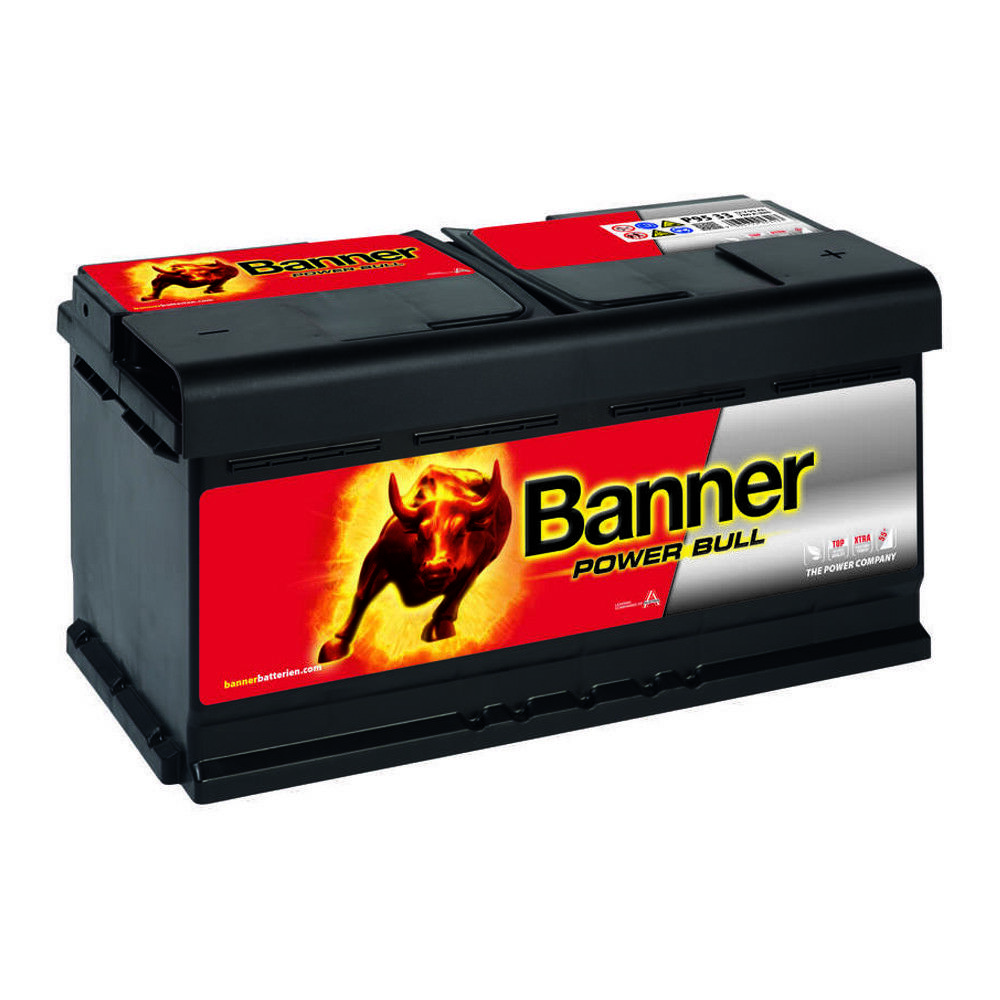 banner power bull 12v 95ah p9533 autobatterie pkw starter. Black Bedroom Furniture Sets. Home Design Ideas