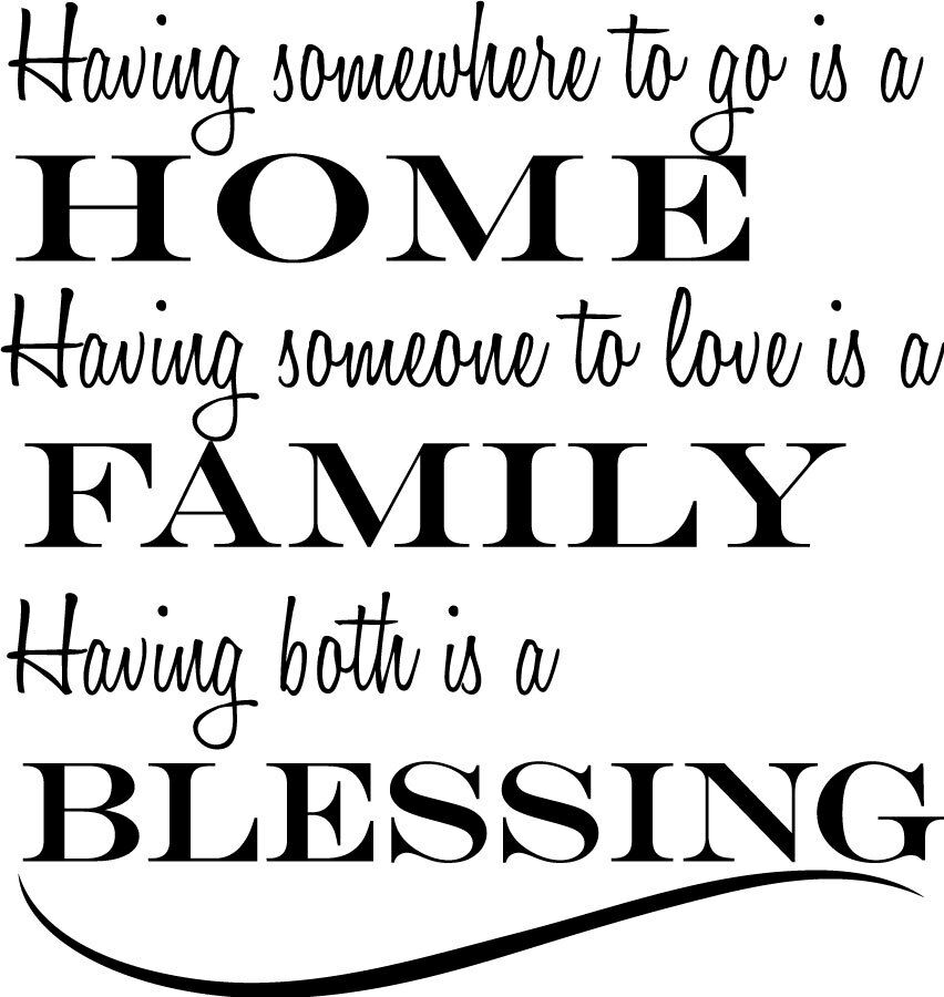 Home Family Blessing Love Decor Vinyl Wall Decal Quote