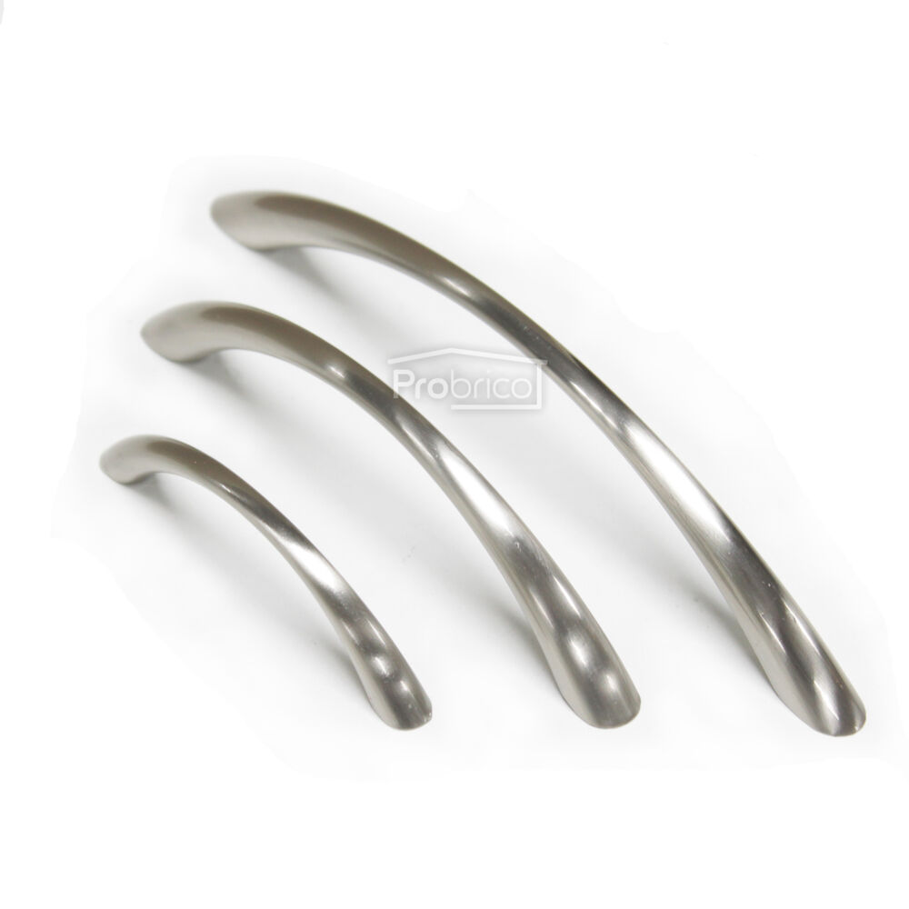 Door Handles Kitchen Cabinets: Brushed Nickel D Bar Kitchen Cabinet Door Pull Handles